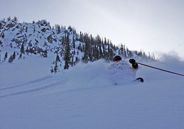Kicking Horse pre-season powder. Photo: Brad Lorriman 24 Nov