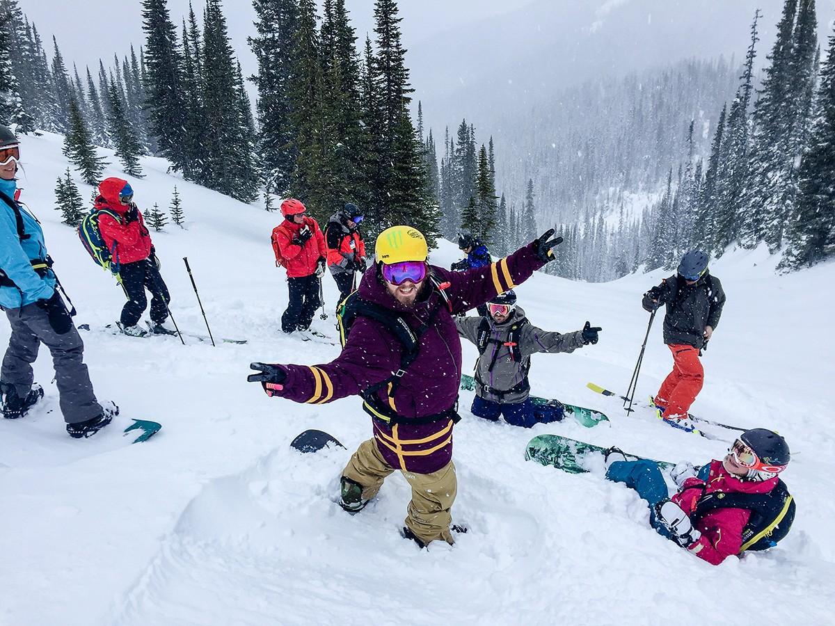 Heli-Skiing Group Shot