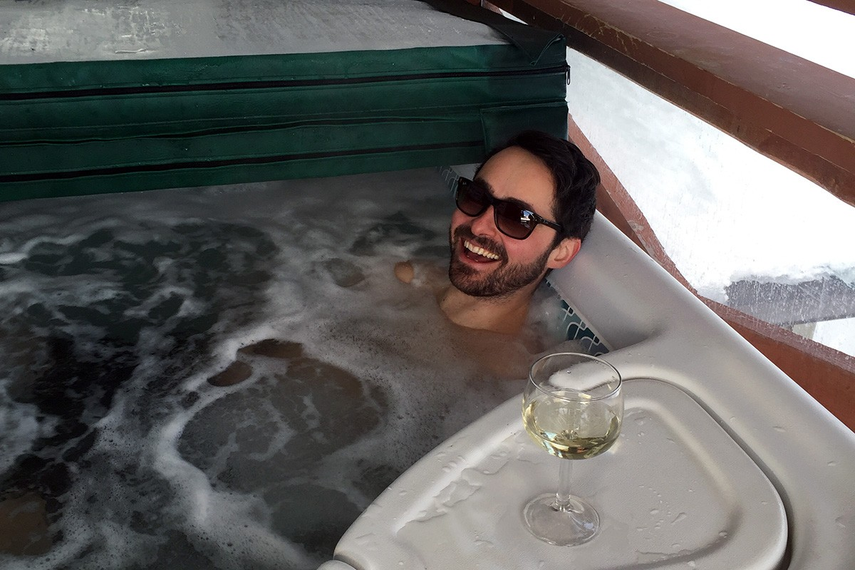 Big White - Chris in the Hot Tub