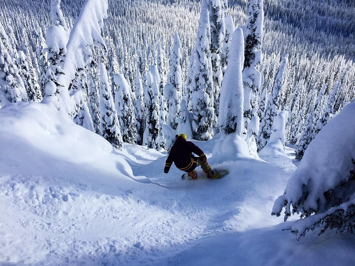 Luke Tree Skiing in Big White