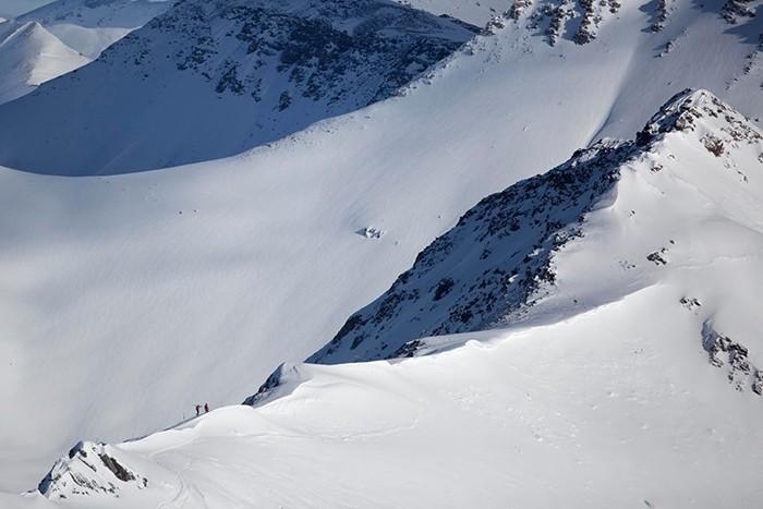 Lake Louise Peak Skiers
