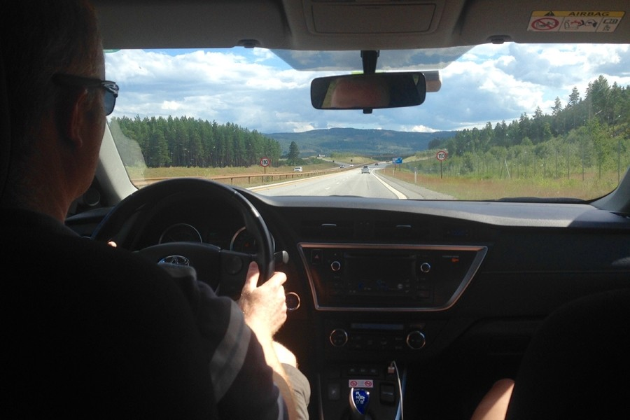 Andy Driving to Vemdalen