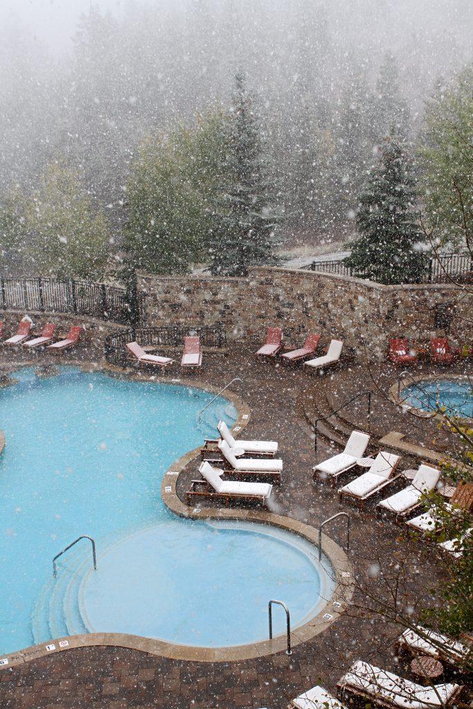 Deer Valley Pool Snow October 2016
