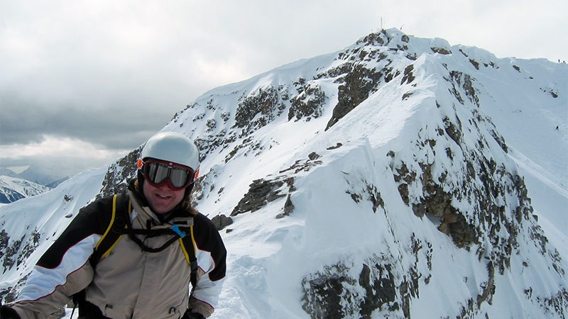 Rupert Hiking Galaxy Ridge to Delirium Dive