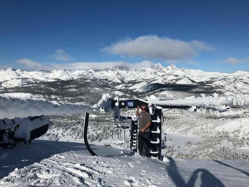 Mammoth Mountain. 23 February 2017 - Chair 14 Buried
