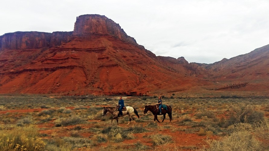 Cowboys in Moab National Park