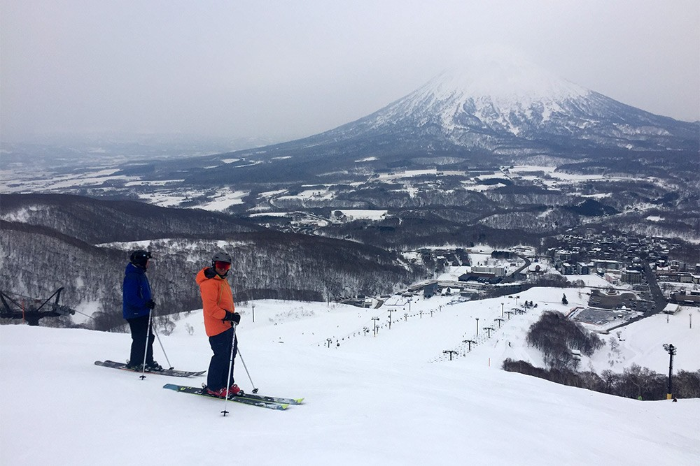 Overlooking Hirafu and Mt Yotei