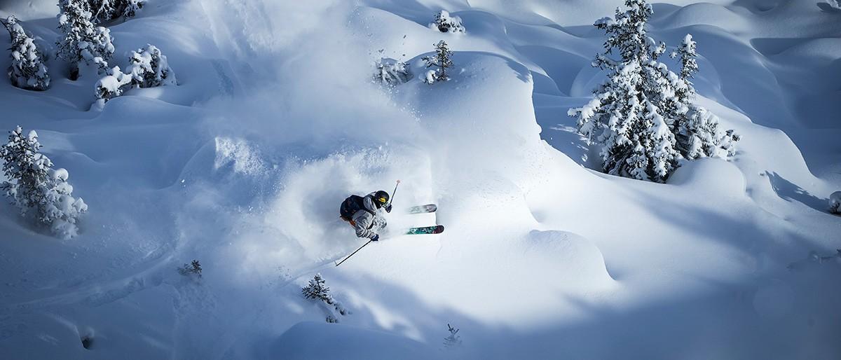 Laax skiers top view © Gaudenz Danuser Winter 15/16