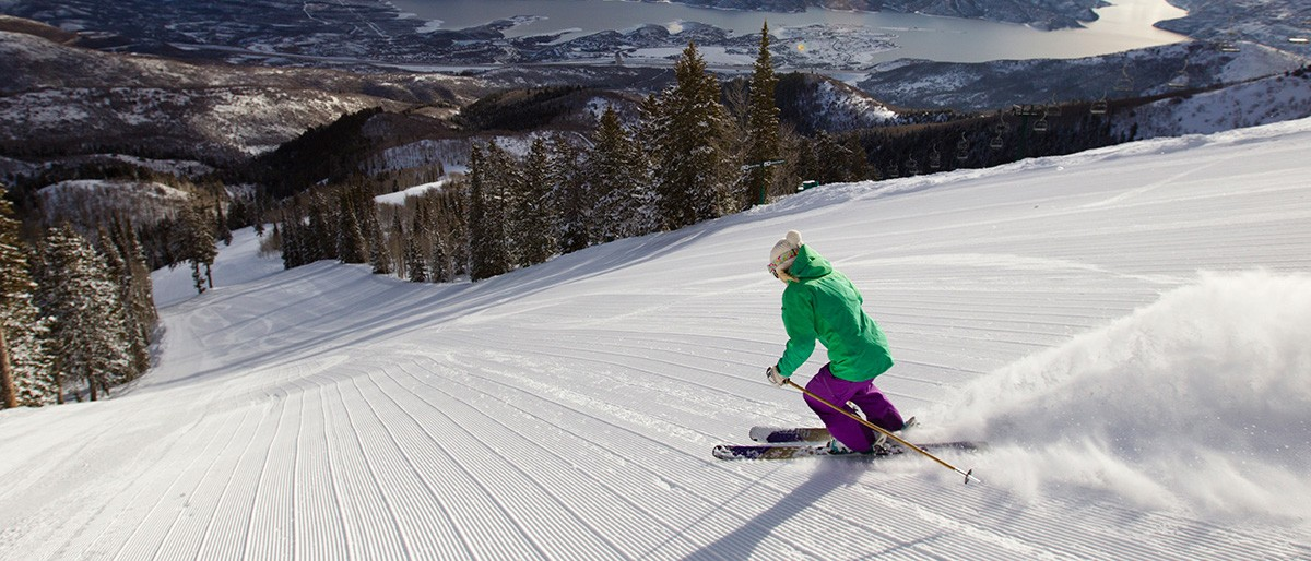 Deer Valley Groomed Skiing © Deer Valley Resort