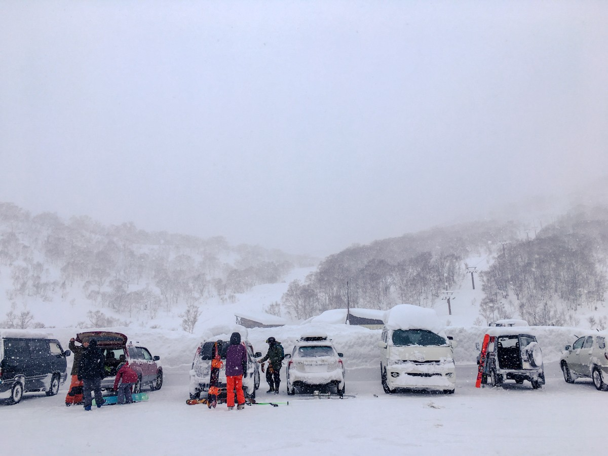 Chisenupuri Cat Skiing Car Park