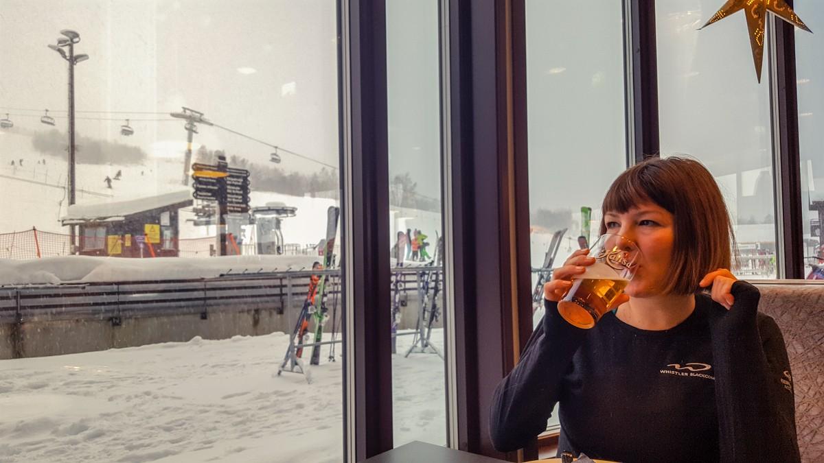 Tara Taking a Beer Break in Myrkdalen