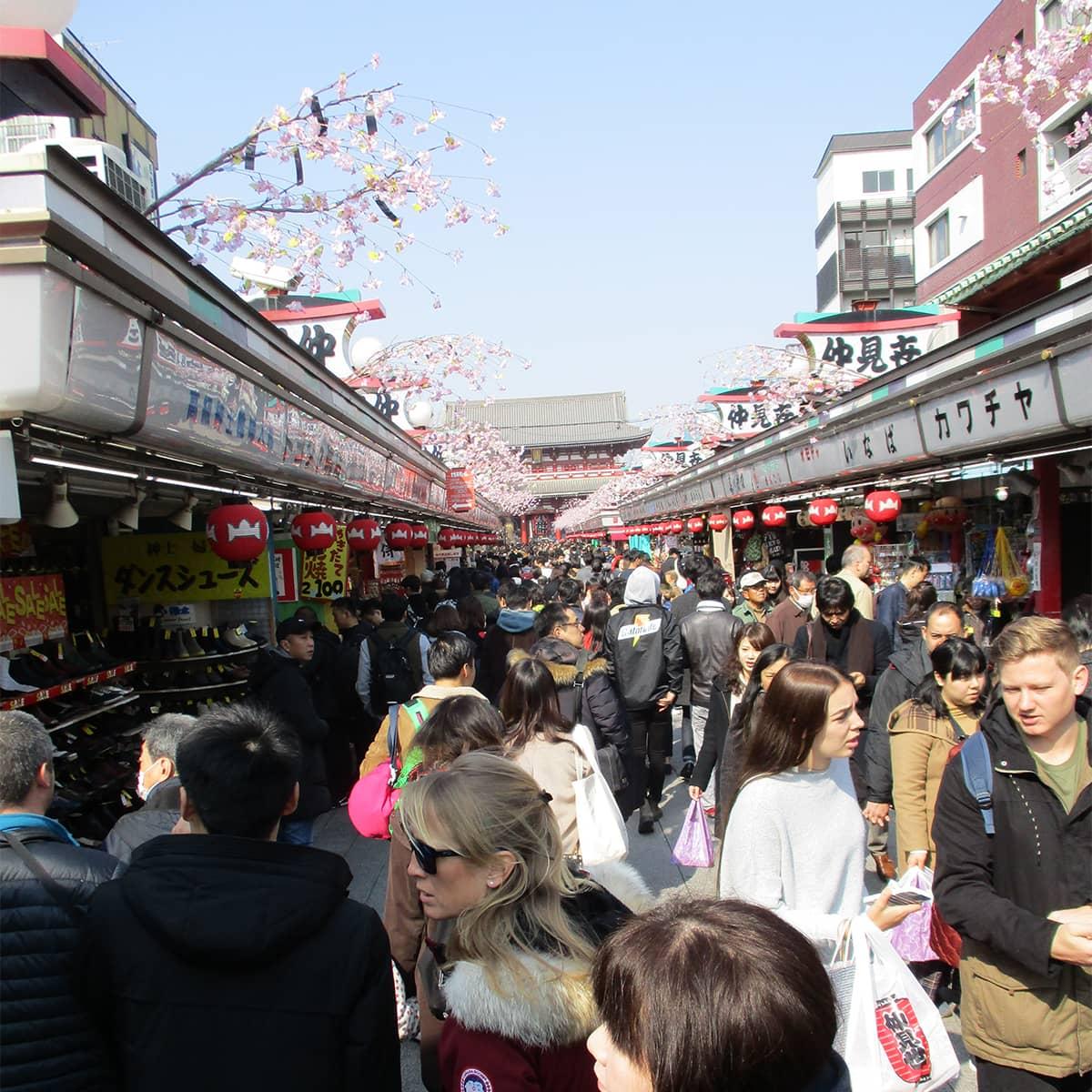 Tokyo Approaching Sensoji Temple
