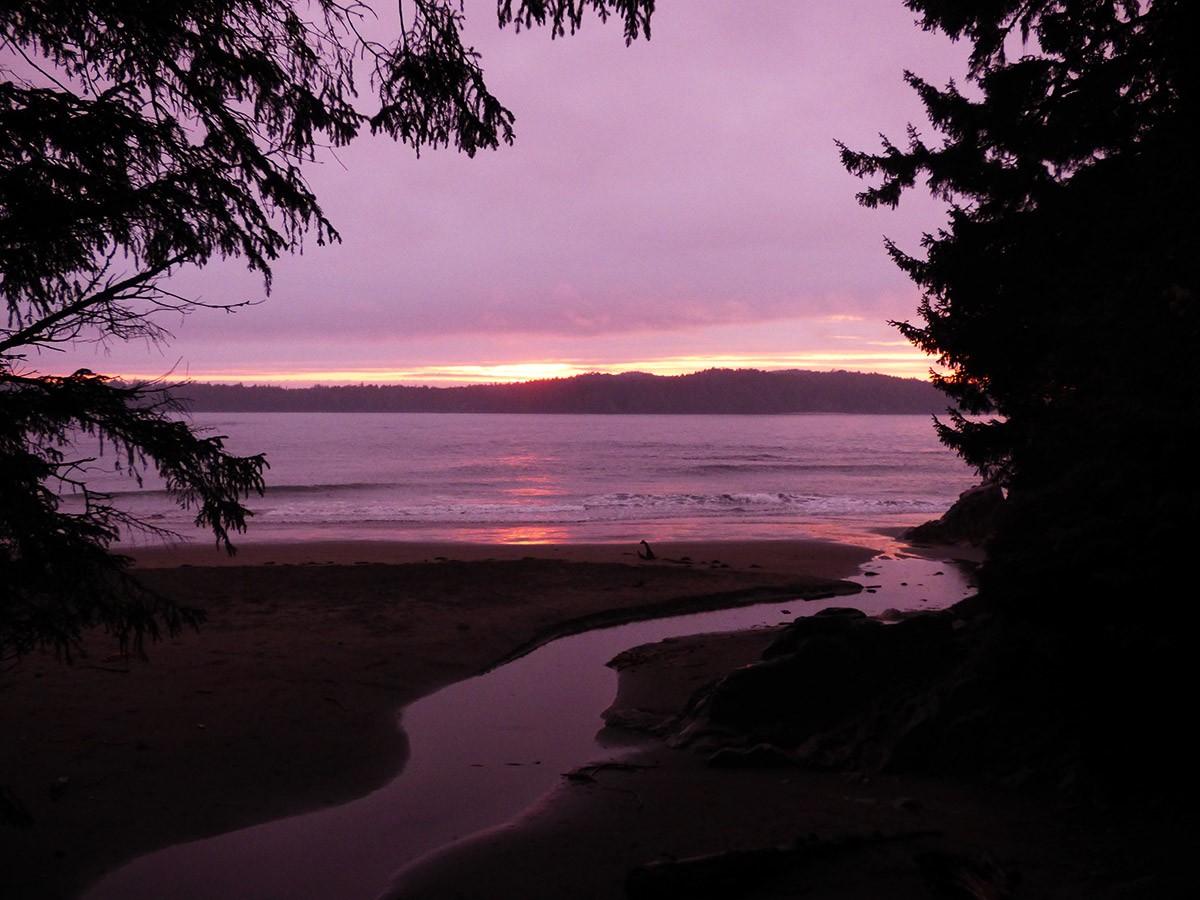 Sunset at Tonquin Beach