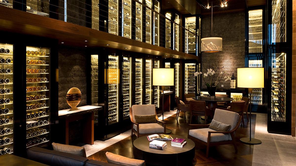 Chedi Andermatt Wine and Cigar Library