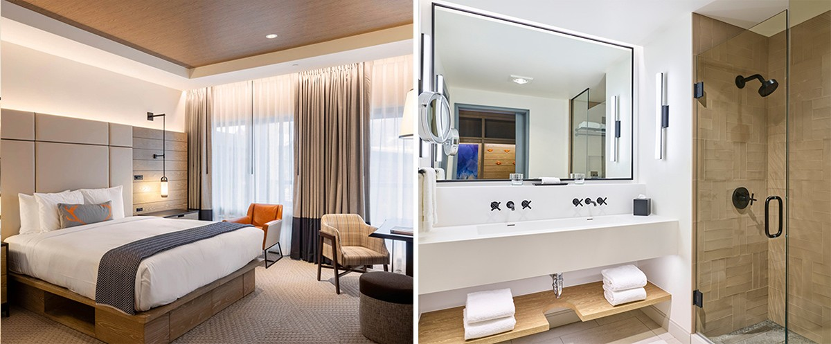 Limelight Snowmass Deluxe King and Bathroom December 2018