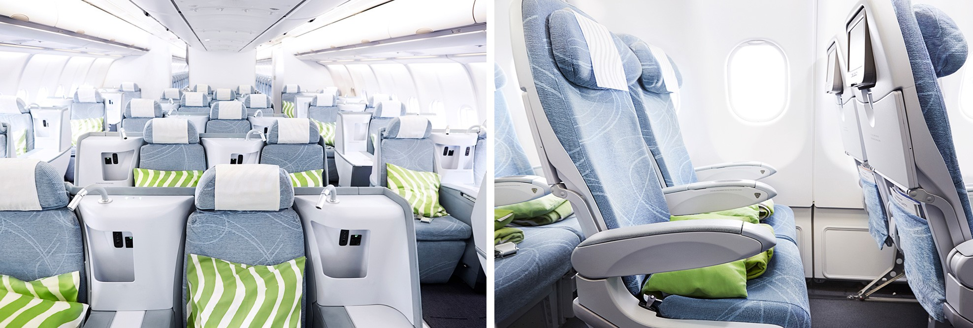 Finnair A330 Business and Economy Classes
