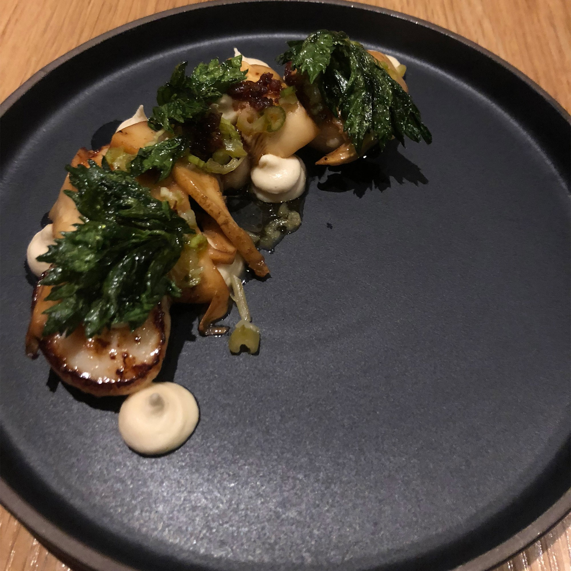 Scallops and Mushrooms at Forage Restaurant Vancouver