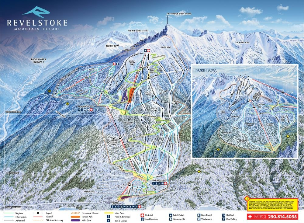 Resort map route map