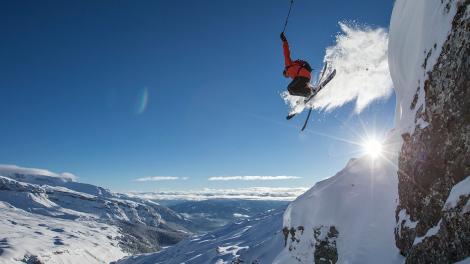 Laax skier jump © Gaudenz Danuser winter 1617