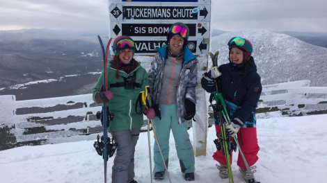 Kat, Emily and Victoria in Jay Peak